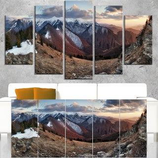 Layers of Foggy Hills Panorama - Landscape Artwork Canvas