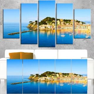 Sestri Levante Silence Bay Sea - Extra Large Seashore Canvas Art