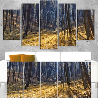 Thick Autumn Forest Woods - Oversized Forest Canvas Artwork