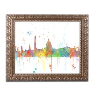 Marlene Watson 'Washington DC Skyline Mclr-1' Ornate Framed Art
