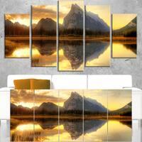 Vermillion Lake Sunrise in Banff Park - Landscape Art Canvas Print