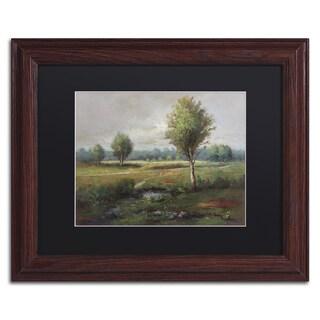 Daniel Moises 'Lonely Tree' Matted Framed Art