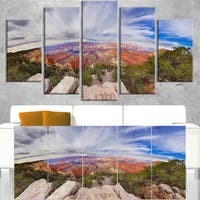 Eye Looking at the Grand Canyon - Landscape Art Canvas Print - Blue