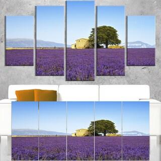 Lavender Flowers Blooming Field - Oversized Landscape Wall Art Print