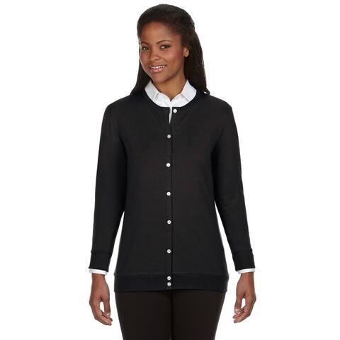 Women's Perfect Fit Black Ribbon Cardigan