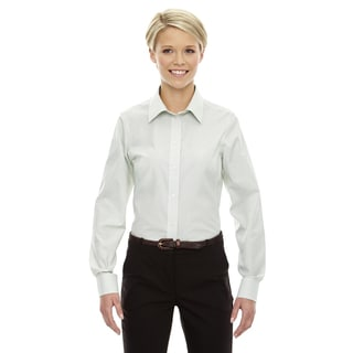 Crown Women's Collection Micro Tattersall White/Forest/Lime Shirt
