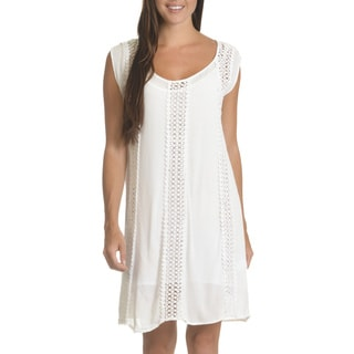 Nina Leonard Women's Cotton Embroidered Shift Dress