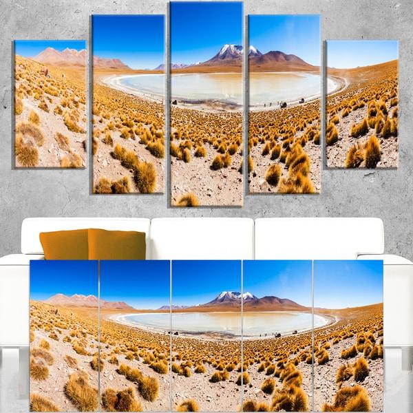 Lake Bolivia Altipalno Panorama - Modern Seascape Canvas Artwork - Blue
