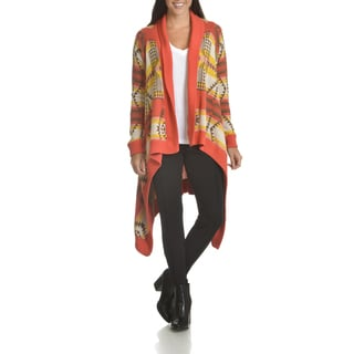Chelsea & Theodore Women's Print Duster Cardigan