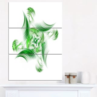 Rotation of Small Universe Green Flower - Floral Canvas Artwork Print