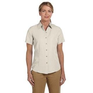 Barbados Women's Textured Camp Creme Shirt