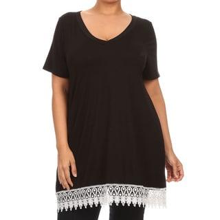 Women's Plus Size Crochet Lace Top
