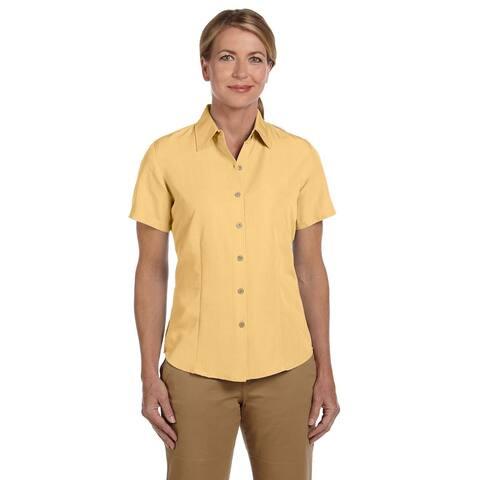 Barbados Women's Textured Camp Pineapple Shirt
