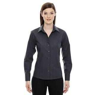 Boardwalk Wrinkle-Free Women's Two-Ply 80'S Cotton Striped Tape Carbon 456 Shirt