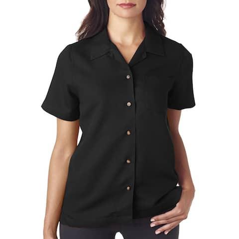 Cabana Women's Breeze Camp Black Shirt