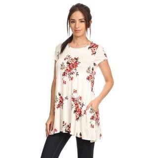 Women's Floral Pattern Top|https://ak1.ostkcdn.com/images/products/12304565/P19139745.jpg?_ostk_perf_=percv&impolicy=medium