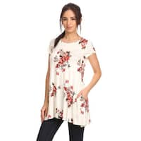 MOA Collection Women's Floral Pattern Rayon/Spandex Top