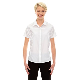 Charge Women's Recycled Polyester Performance Short-Sleeve White 701 Shirt
