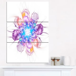 Perfect Fractal Flower in Multi Colors - Floral Canvas Artwork Print