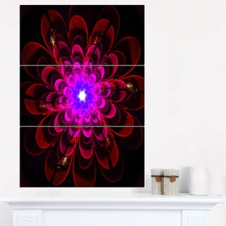 Perfect Shiny Fractal Flower in Magenta - Floral Canvas Artwork Print