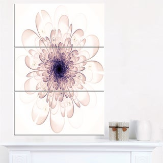 Perfect Glowing Fractal Flower in Purple - Floral Canvas Artwork Print