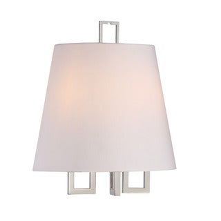 Crystorama Libby Langdon Westwood Collection 2-light Polished Nickel Wall Sconce