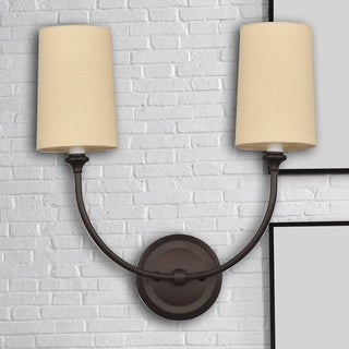 Crystorama Libby Langdon Sylvan Collection 2-light Dark Bronze Wall Sconce