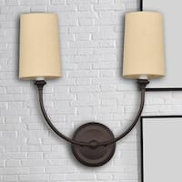 2-light Dark Bronze Wall Sconce