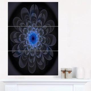Perfect Digital Flower Art in Dark Purple - Floral Canvas Artwork Print