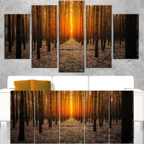 Halloween-Themed Spooky Dark Forest - Oversized Forest Canvas Art - Blue. Opens flyout.