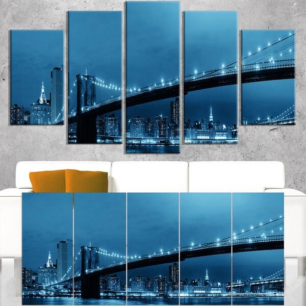 Manhattan Downtown Urban View - Cityscape Canvas print