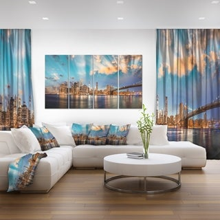Dramatic Sky Over Manhattan City - Cityscape Canvas print