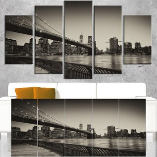 Famous Landmark of Brooklyn Bridge - Cityscape Canvas print