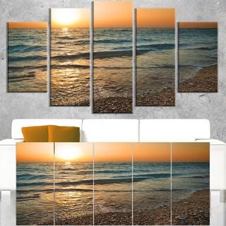Gloomy Atlantic Beach Portugal - Seashore Canvas Wall Art