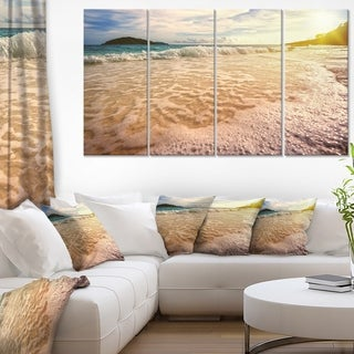 Vintage Style Beach at Similan Park - Contemporary Seascape Art Canvas