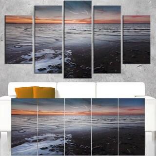 Beautiful Sunset on Chudskoy Lake - Contemporary Seascape Art Canvas