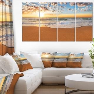 Incredible Seashore under Cloudy Sky - Seashore Canvas Wall Art
