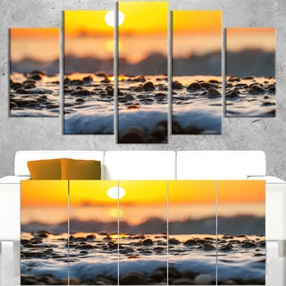 Sunrise Giving Color for Sea Waters - Seashore Canvas Wall Art