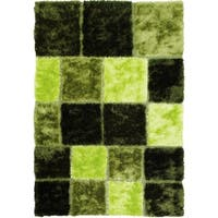 LYKE Home High Density Lush Pile Green Shag Area Rug - 5' x 7'