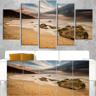 Exotic Seashore with White Waves - Beach Canvas Wall Art