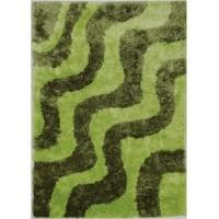 LYKE Home High Density Lush Pile Green Shag Area Rug - 8' x 10'6