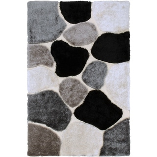 LYKE Home High Density Lush Pile White Shag Area Rug (8' x 11') - 8' x 10'6
