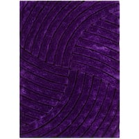 LYKE Home Jumbo Thick Lilac Shag Area Rug - 7'7 x 10'5