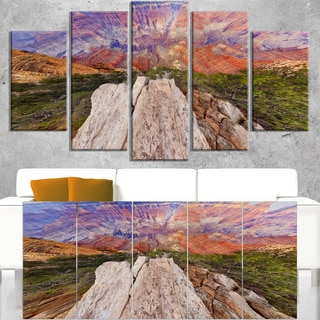 Grand Canyon View from Above - Modern Seascape Canvas Artwork