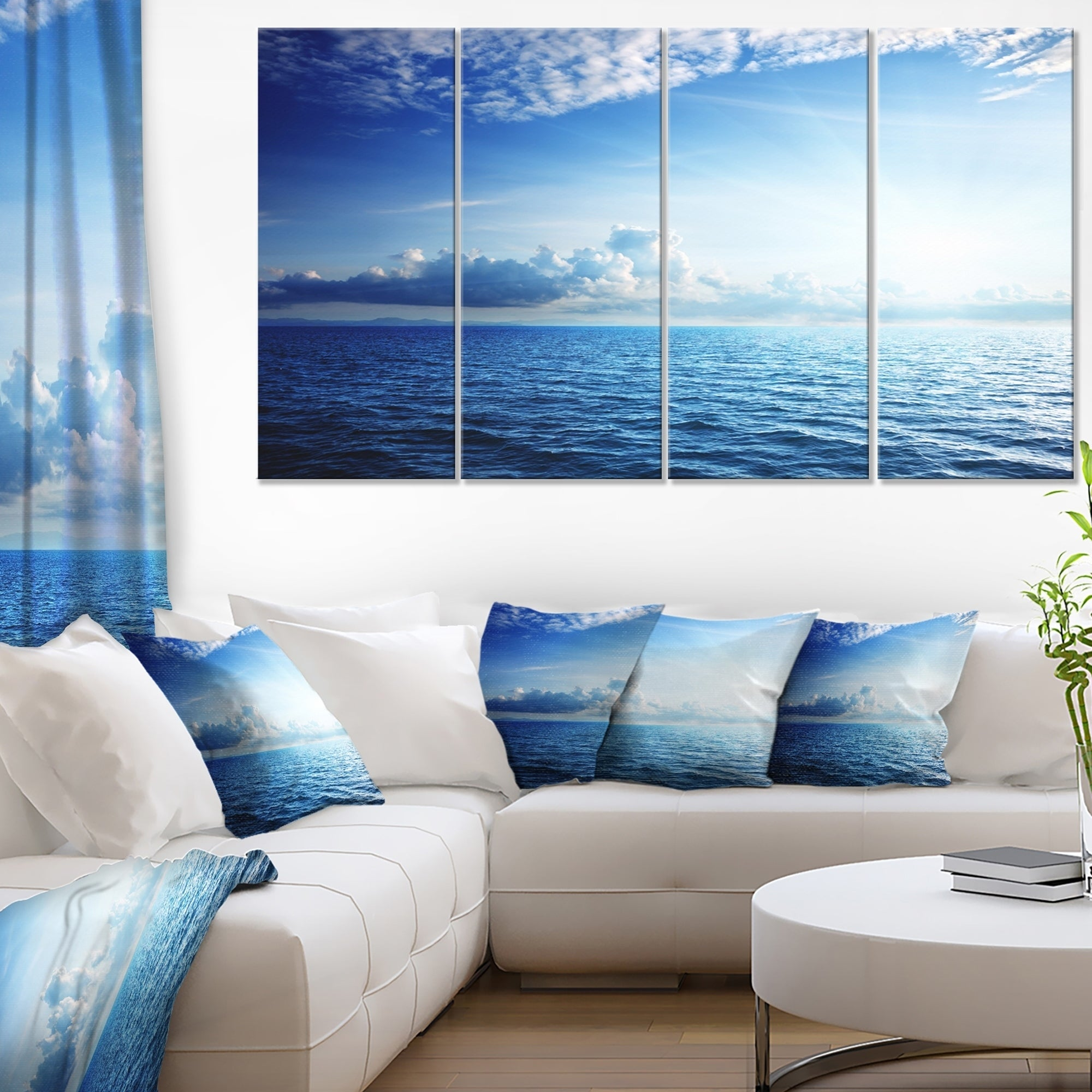 Caribbean Sea And Perfect Blue Sky Extra Large Seascape Art Canvas On Sale Overstock 12304973