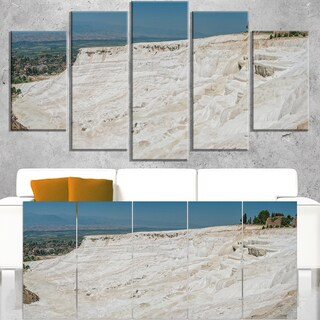 Panoramic View of Pammukale - Modern Seascape Canvas Artwork