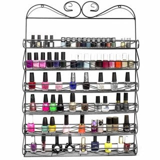 Black Metal 6-tier Nail Polish Rack