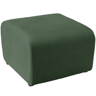 angelo:HOME Cocktail Ottoman in Mystere Jade