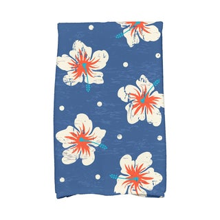 16 x 25-inch Hibiscus Blooms Floral Print Kitchen Towel