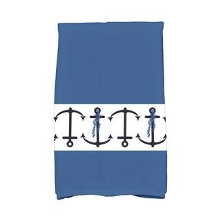 16 x 25-inch Anchor Stripe Stripe Print Kitchen Towel